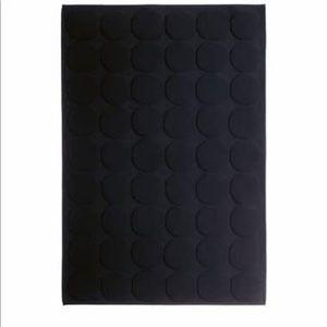 Designer Marimekko Bath Black Circle Pattern Mat